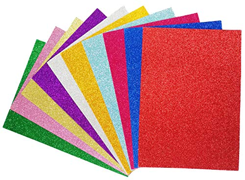 Glitter Cardstock Paper-A4 Glitter Paper for Wrapping-Scrapbook-DIY Craft Paper Project-Wedding Birthday Party Decoration-20PCS per Pack- -