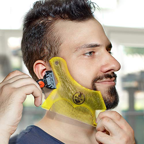Beard Trimming Guide Tool - Template Trim Shaping (Best Beard Trimmer Reviews 2019)