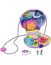Polly Pocket GNH11 - Polly Pocket Mussla Lekväska, Bärbar väska med Polly och Lila på Undervattensäventyr, Från 4 år