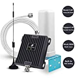 Cell Phone Signal Booster for Home and Office Use - 65dB 850/1900Mhz Dual