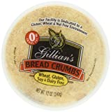 Gillian Bread Crumbs Wheat Free Gluten Free Dairy Free, 12-Ounce (Pack of 4)
