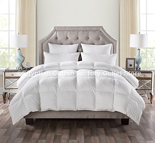 Price comparison product image LUXURIOUS QUEEN Size White Goose Down Alternative Comforter Duvet Insert 750 Fill Power, 50 oz Fill Weight,Plush Siliconized Polyester Fiberfill,Hypoallergenic,Baffle Box design & LIFETIME WARRANTY!