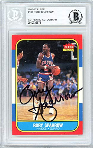 - Rory Sparrow Autographed 1986 Fleer Card #105 New York Knicks Beckett BAS #10736973 - Beckett Authentication
