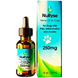 Hemp Oil 250mg Extract Drops for Dogs & Cats - Calming Supplements for Anxiety, Separation, Stress, Hip & Joint Relief, Arthritis, & Inflammation - Helps Calm Pets During Fireworks and Lightning, 1ml