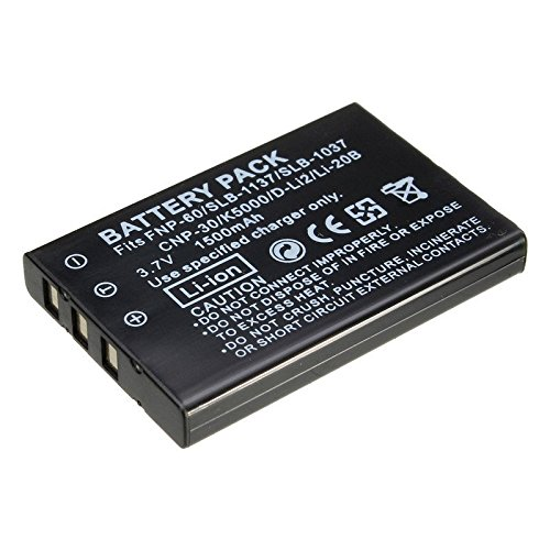 3.7V 1500mAh NP-60 NP60 Battery Camera Battery For FUJIFILM FUJI FinePix M603 F601 F410 F401 50i Zoom