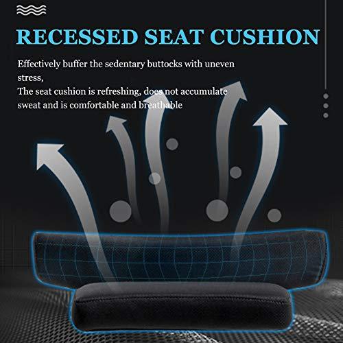 HONGYU hem dator kontor svängbar stol med fotstöd för att rädda, studentlyft E-sport spelstol, 5 remskivor, svart