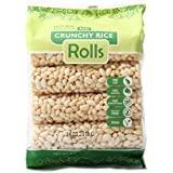 Kim's Crunchy Rice Rolls Gluten Free Vegan All Natural(12 packs of 8 Rolls)
