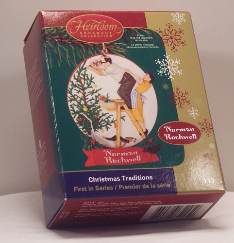 Carlton Cards Christmas Traditions Norman Rockwell No. CXOR-113P (Of Christmas Tradition Cards)