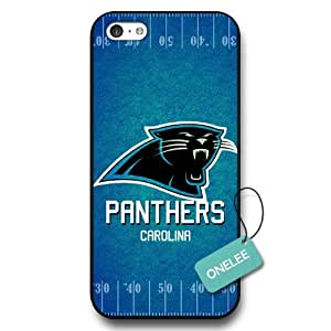 MMZ DIY PHONE CASEOnelee(TM) - NFL Team Logo ipod touch 4 case - Custom Personalized Carolina Panthers Hard Plastic ipod touch 4 Cover - Black01