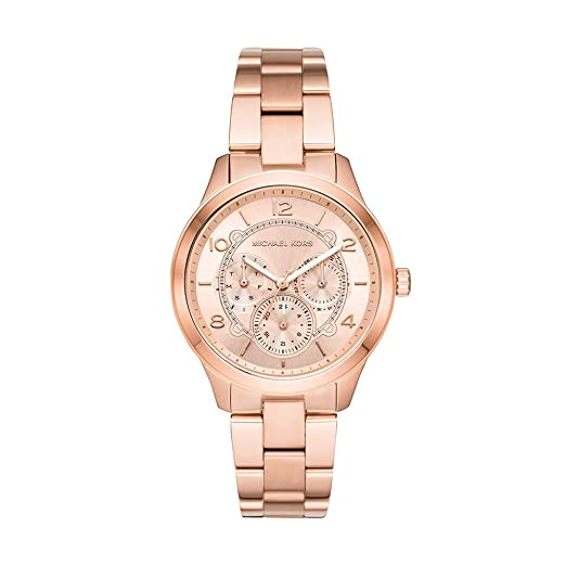 fd29d36300a9 Buy Michael Kors Runway Analog Gold Dial Women s Watch - MK6589 Online at  Low Prices in India - Amazon.in