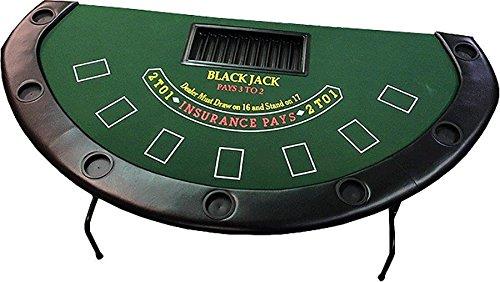 72'' Blackjack Table with Folding Legs (Green Felt)