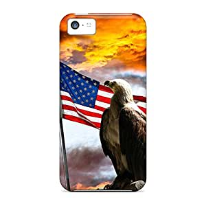 Pretty OlauLqm2109IjAFK Iphone 5c Case Cover/ United State Flag Series High Quality Case