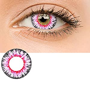 Zouvo Women Materials Multicolor Cute Charm and Attractive Contact Lenses (Pink)