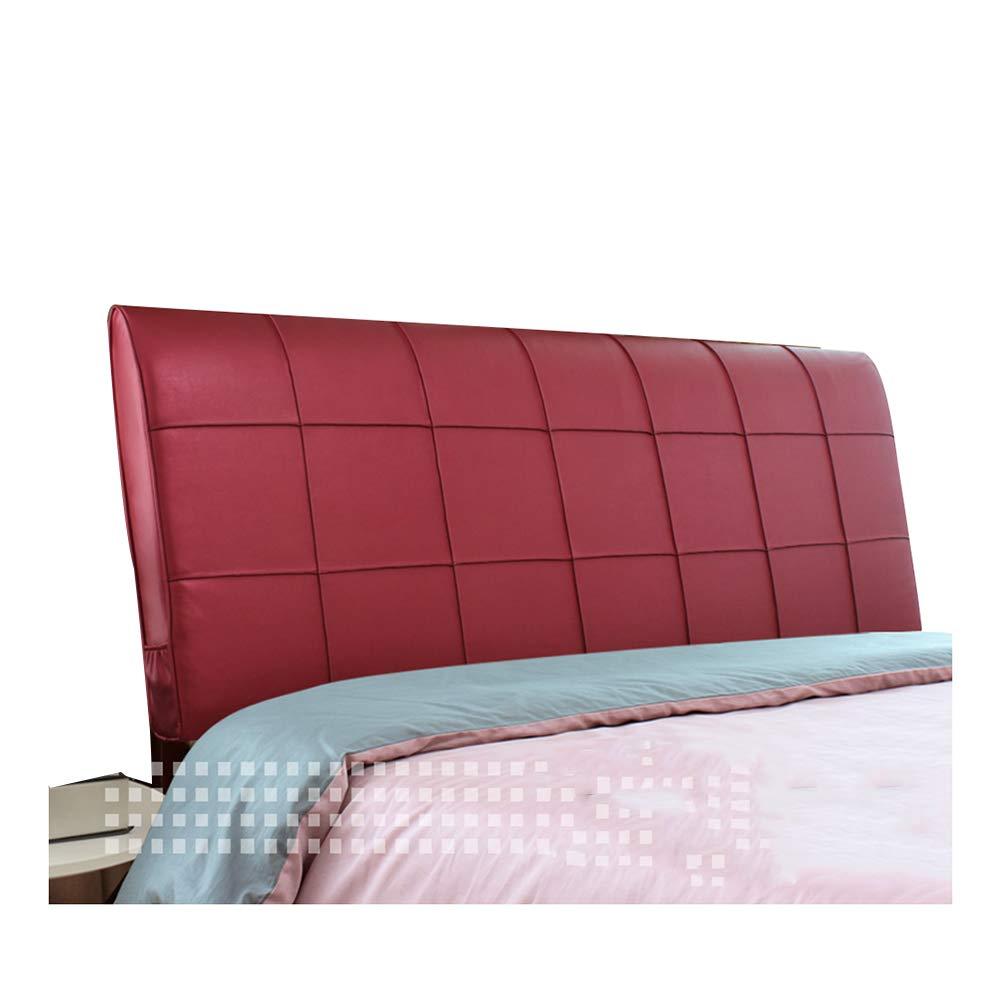 ZEMIN バック 床用靠垫 ウェッジクッション サポート ウエスト 滑らかな PU、 有/無 ヘッドボード、 3色、 5サイズ (Color : Red-B, Size : 160CM) B07T6YNFQW Red-B 160CM