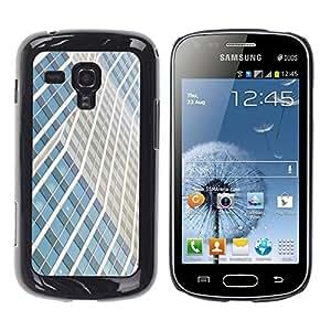 Be Good Phone Accessory // Dura Cáscara cubierta Protectora Caso Carcasa Funda de Protección para Samsung Galaxy S Duos S7562 // Building Lines City Skyscraper