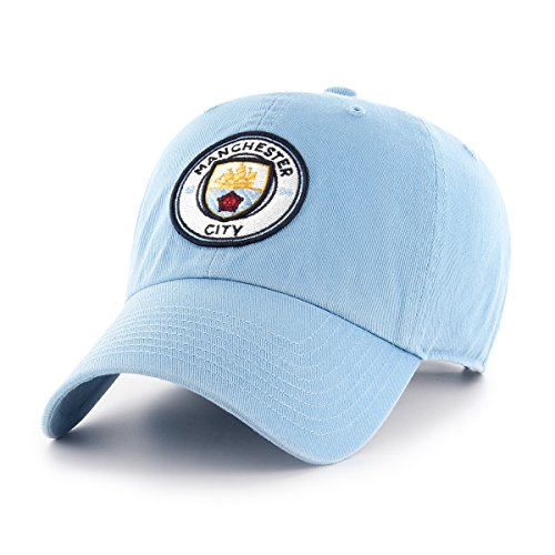 OTS International Soccer Manchester City EPL Challenger Clean Up Adjustable Hat, Columbia, One Size
