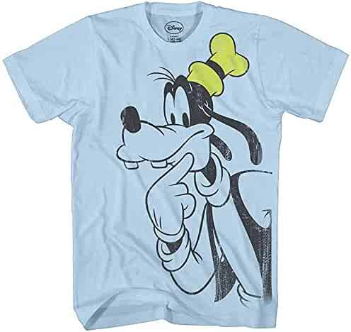 0f8289c18a Disney Goofy Thinking Vintage Classic Funny Mickey & Gang Humor Adult Mens  Graphic Tee T-