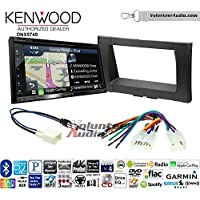 Volunteer Audio Kenwood DNX574S Double Din Radio Install Kit with GPS Navigation Apple CarPlay Android Auto Fits 2014-2017 Non Amplified Toyota Tundra