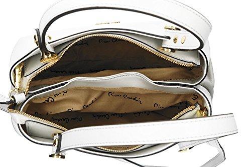 d118861e41dd3 Tasche damen mit schultergurt PIERRE CARDIN weiß leder Made in Italy VN1041