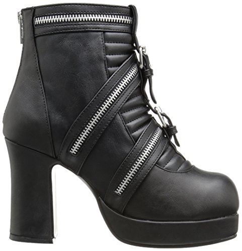 Got50 Ankle Leather Bvl 50 Demonia Black Vegan Gothika Women's Black Bootie 6Ctq6wUnI