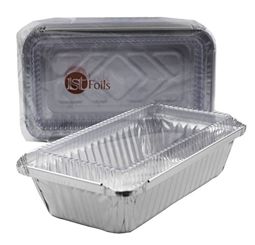 disposable-foil-baking-pans-oblong-shallow-w-clear-lid-10sets