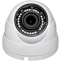 4 in 1 Indoor Outdoor Weatherproof IP66 1080p HD 2MP Motorized 2.8-12mm 4x Optical Zoom Varifocal Dome Camera Over Coax, HD CVI TVI AHD and Analog CCTV Eyeball Turret Camera with Free US Tech Support