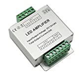 LPD DC12-24V Aluminum Shell RGBW Amplifier Data Signal Repeater 4CH LED Light Controller, Silver