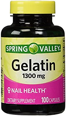 Amazon.com: Spring Valley,Gelatin 1300mg(NAIL HEALTH),dietary ...