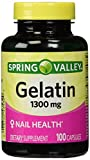 Cheap Spring Valley,Gelatin 1300mg(NAIL HEALTH),dietary supplement 100 capsules
