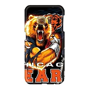 High Quality Cell-phone Hard Cover For Samsung Galaxy S6 (rbd16230pZyB) Custom Realistic Chicago Bears Series