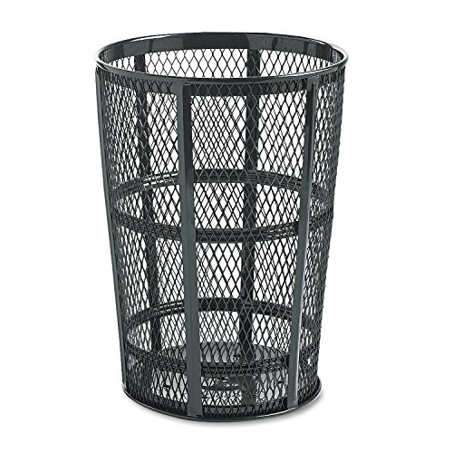 Rubbermaid Commercial Street Basket Trash Can, 45 Gallon, Black, FGSBR52BK (Trash Can Smokers)