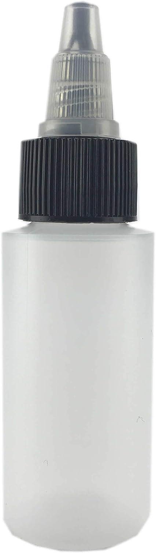 8 oz, 6 Bottles HSKSSBTC-0806 Hobbyland Squeeze Bottles with Twist Cap