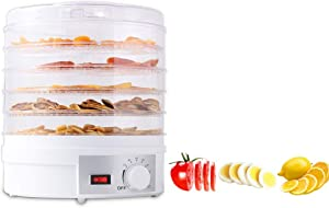 Food Dehydrator|Beef Jerky Maker|Five Tray Food Dehydration Machine With Knob Button|Dried Fruits and Vegetables Maker