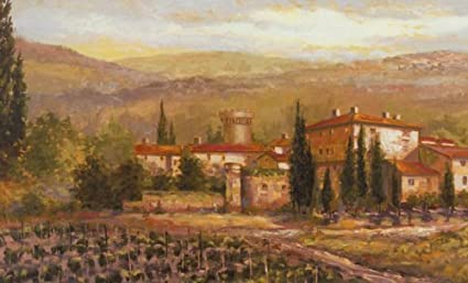 Amazoncom Tuscan Vineyard Wall Mural Home Kitchen