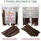 Best Dog Treats, All Natural Dog Jerky Treats Made in USA ONLY, 2 Premium Flavors in 1 Bag, Chicken & Beef Strips, Healthy Teeth, Grain & Gluten Free, Great Diabetic Treat, Sugar Free, Dental Chews Larger Image