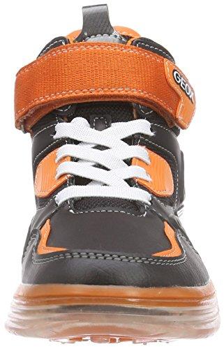 Geox J ARGONAT BOY A - zapatillas deportivas altas de material sintético niños multicolor - Mehrfarbig (C0038BLACK/ORANGE)