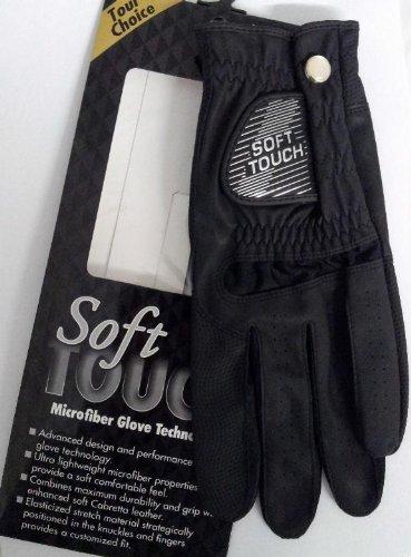 Soft Touch Microfiber Golf Glove Black Ladies LH Medium   B00B7MIF84