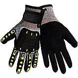 CIA417V Tuffalene HDPE Roughneck CIA Velcro Closure Glove, Cut Resistant, Impact Resistant (1 Pair) (Large)