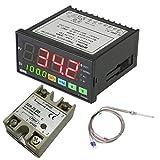 Minzhi MYPIN TA8-SNR Digital F/C PID Temperature Controller PT100 Temperature Sensor Waterproof Stainless Steel Thermocouple SSR