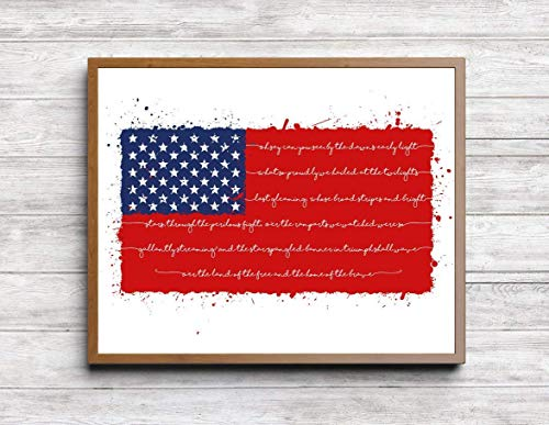 'American Flag' Print. Patriotic Print. American Pride. July 4th, Independence Day, Holiday ()