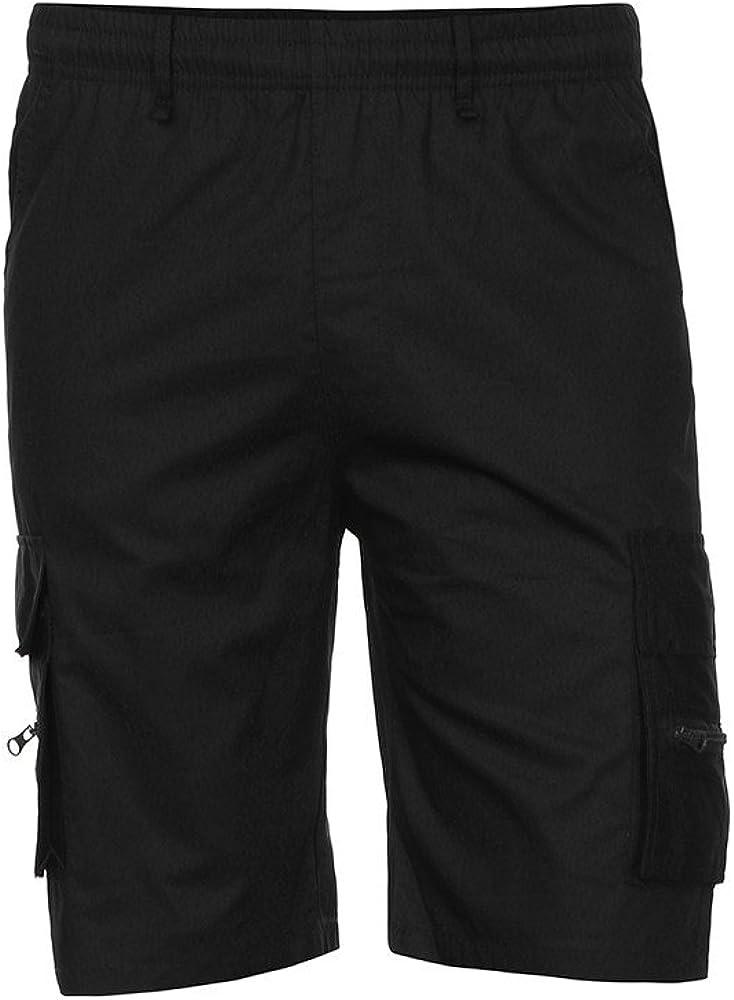 STORTO Mens Cargo Pockets Shorts Solid Fashion Casual Comfortable Fitness Regular Basic Shorts