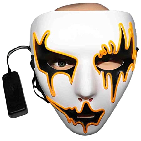 PQNVN Máscaras de Halloween Que Brillan intensamente Máscara ...