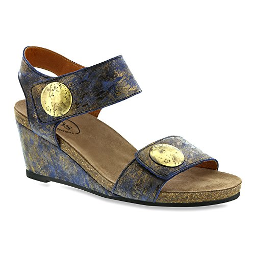 Sandal Taos Teal Leather Women's Carousel Wedge z11qwYPF