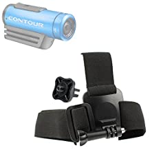 High Quality Contour Action Camera Helmet Mount - Anti-Slip Replacement Head/Helmet Strap Mount For Contour +2, Contour Roam 2 & Contour Roam - Plus GoPro Screw Thread Adapter! - by DURAGADGET