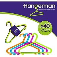 Juego de 40 perchas de Hangerman, de plástico