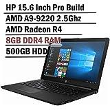 Hp 15.6 Inch HD Thin and Light Laptop ( 7th Gen AMD A6-9220 2.5Ghz APU, 8GB DDR4 Memory, 500GB HDD, Wireless AC, HDMI, Bluetooth, WIndows 10)