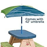 Step2 Sit and Play Kids Picnic Table With Umbrella (Deluxe Pack - Umbrella Included)