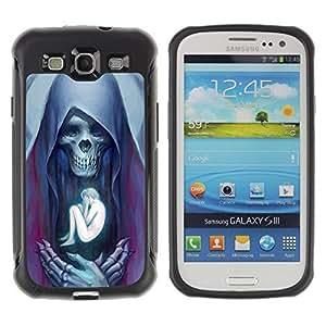 Be-Star Unique Pattern Anti-Skid Hybrid Impact Shockproof Case Cover For SAMSUNG Galaxy S3 III / i9300 / i747 ( Angel Death Human Bones Skull ) Kimberly Kurzendoerfer