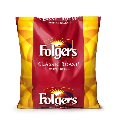 FOLGER'S Classic Roast Whole Bean Coffee, 44-Ounce Bag by