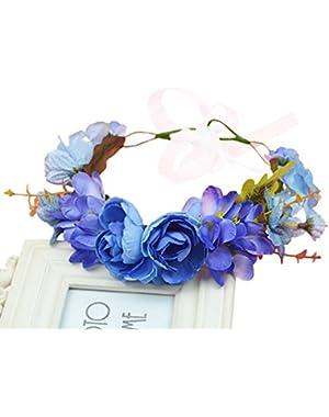 Flower Wreath Headband Crown Floral Garland Boho for Festival Wedding